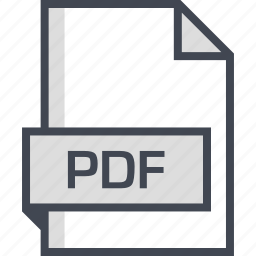 document, extension, name, pdf icon