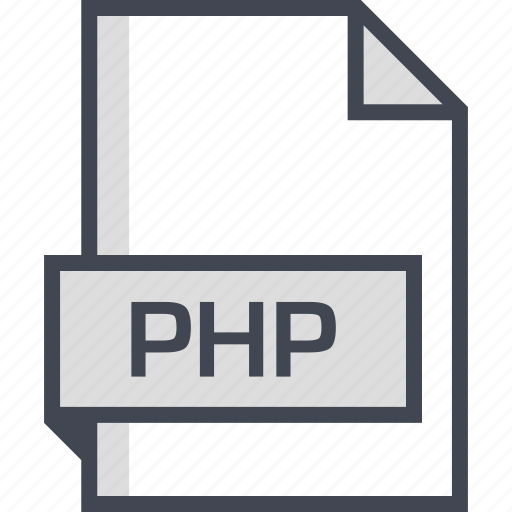 document, extension, name, php icon