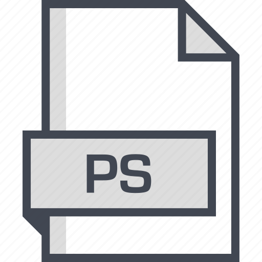 document, extension, name, ps icon
