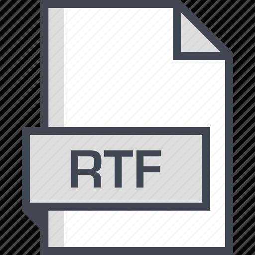 document, extension, name, rtf icon