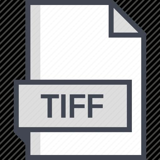 document, extension, name, tiff icon