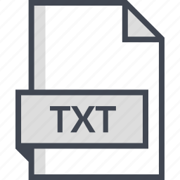 document, extension, name, txt icon