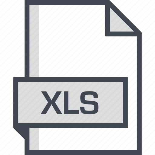 document, extension, name, xls icon