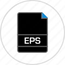 eps, extension, file, name icon