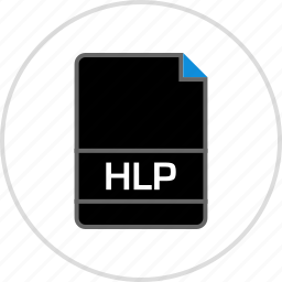 extension, file, hlp, name icon