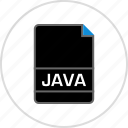 extension, file, java, name icon