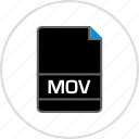 extension, file, mov, name icon