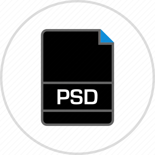 extension, file, name, psd icon