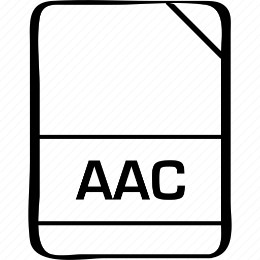 aac, document, extension, file, name icon