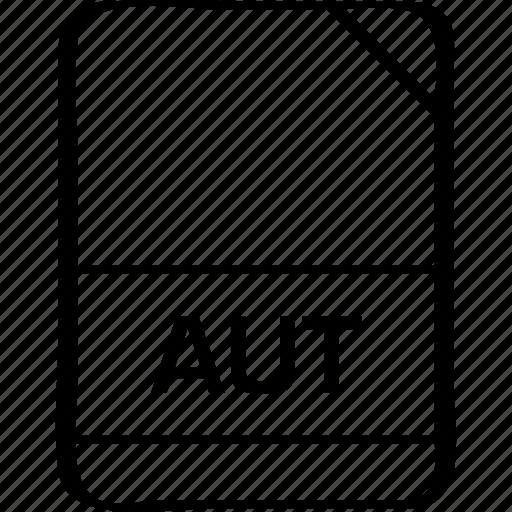 ai file, aut, document, extension, file, name icon