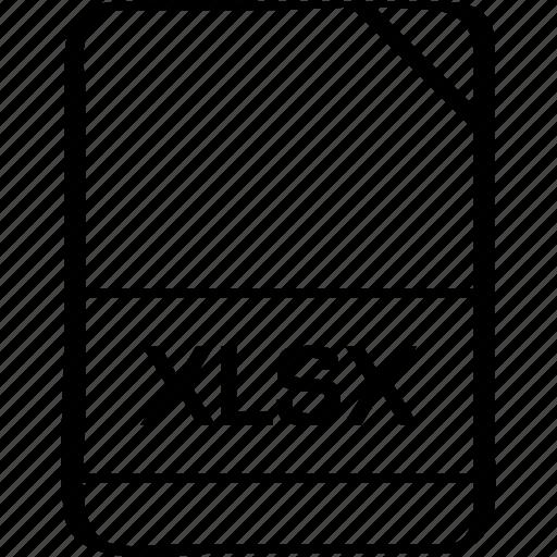 document, extension, file, name, xlsx icon