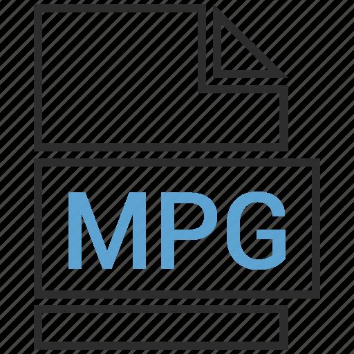 filetypes, movie, mpg, video icon