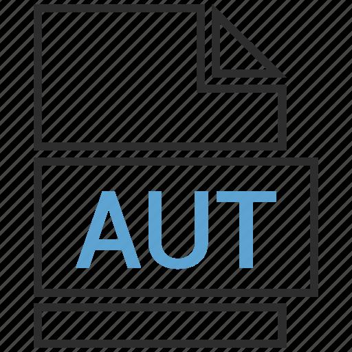 aut, doc, document, page icon