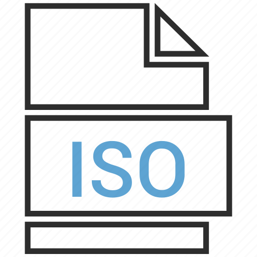 file, format, iso icon
