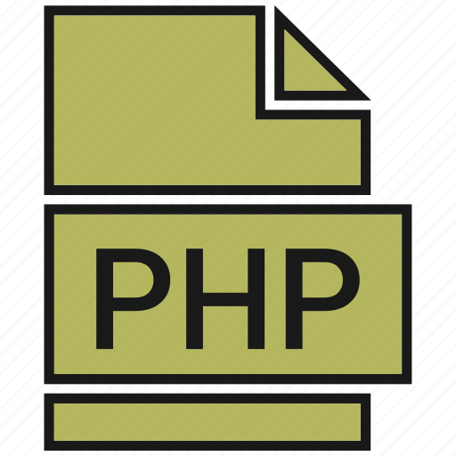 extension, file, name, php icon