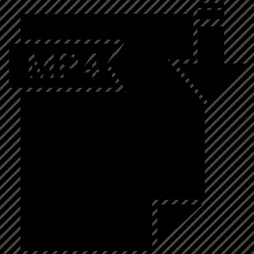 file, mp4 icon