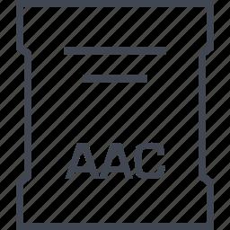 aac, page, sleek icon