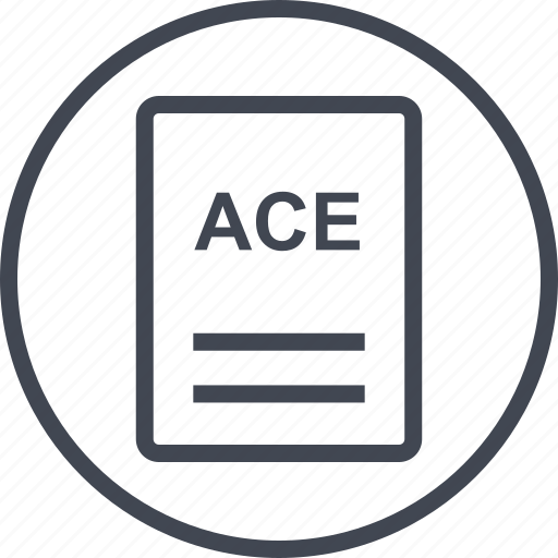 ace, extension, file, page icon