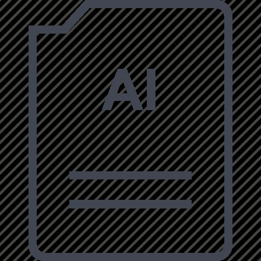 ai illustrator, doc, document, page icon