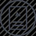 ai illustrator, extension, file, page icon