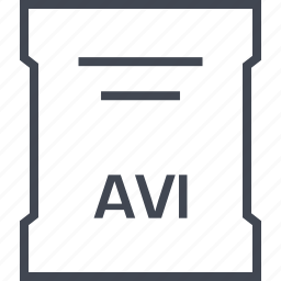 avi, file, page, sleek icon
