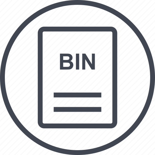 bin, extension, file, page icon