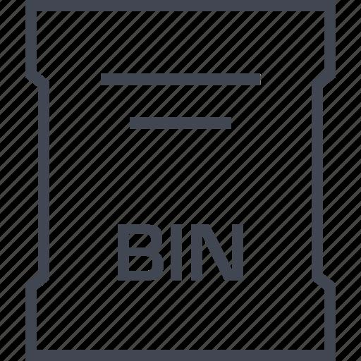 bin, file, page, sleek icon