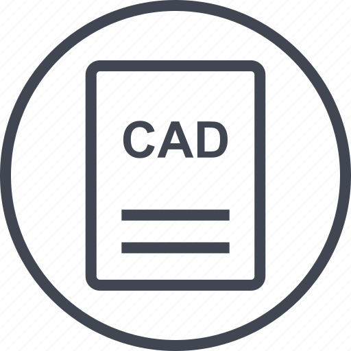 cad, extension, file, page icon
