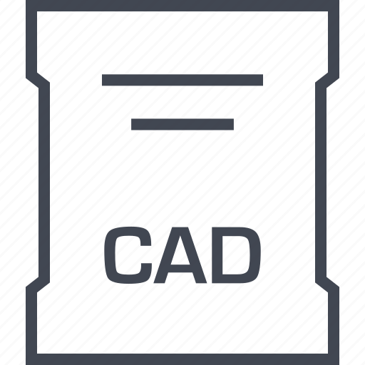 cad, file, page, sleek icon