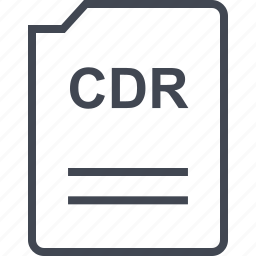 cdr, doc, document, page icon