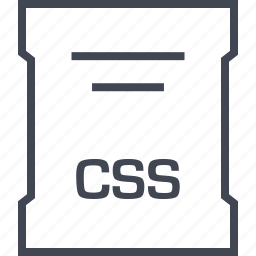 css, file, page, sleek icon