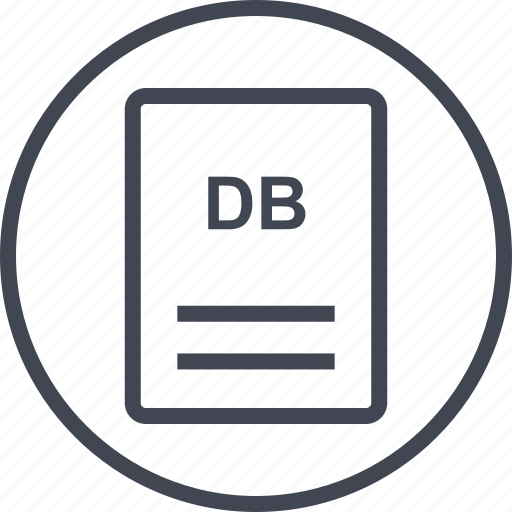 db, extension, file, page icon