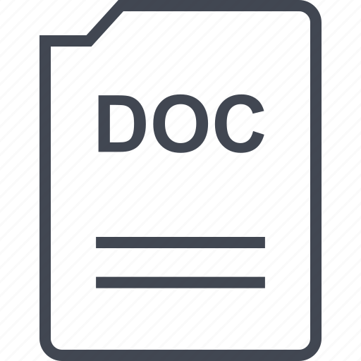 doc, document, page icon
