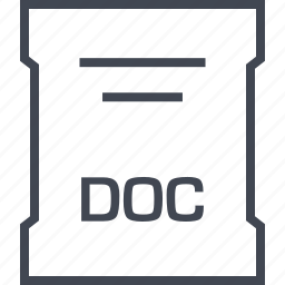 doc, file, page, sleek icon