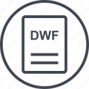 dwf, extension, file, page icon