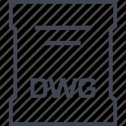 dwg, file, page, sleek icon