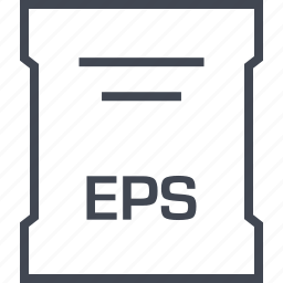 eps, page, sleek icon