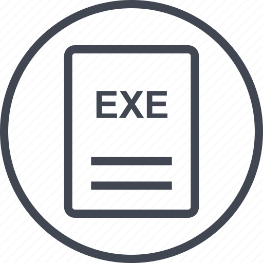 exe, extension, file, page icon