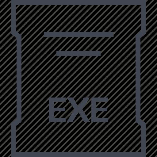 exe, page, sleek icon