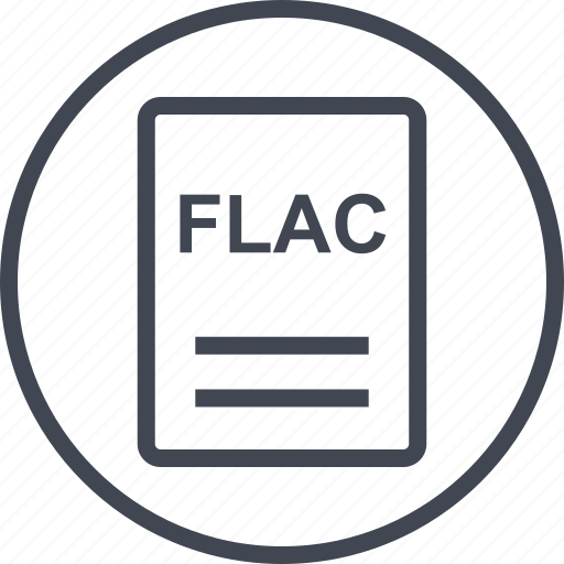 extension, file, flac, page icon
