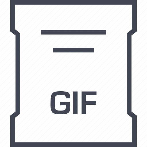 file, gif, page, sleek icon