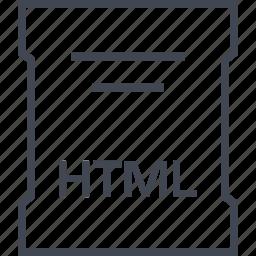 file, html, page, sleek icon