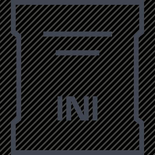 file, ini, page, sleek icon