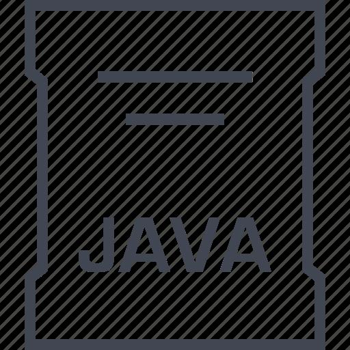 file, java, page, sleek icon