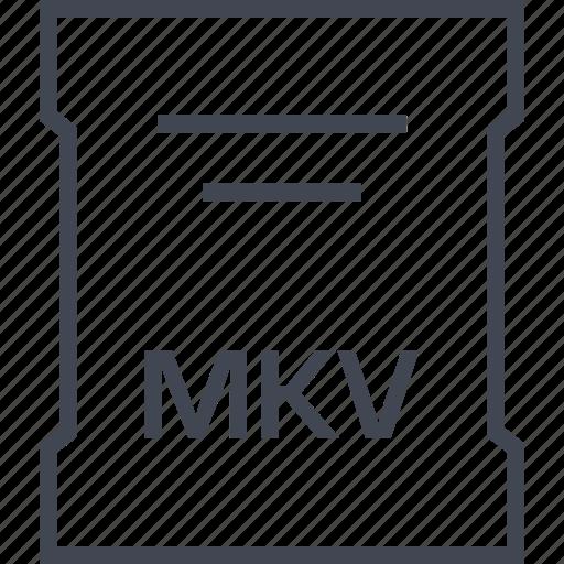 mkv, page, sleek icon