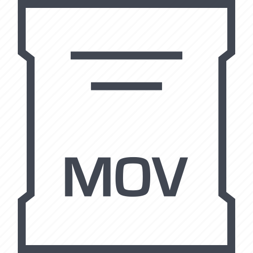 mov, page, sleek icon