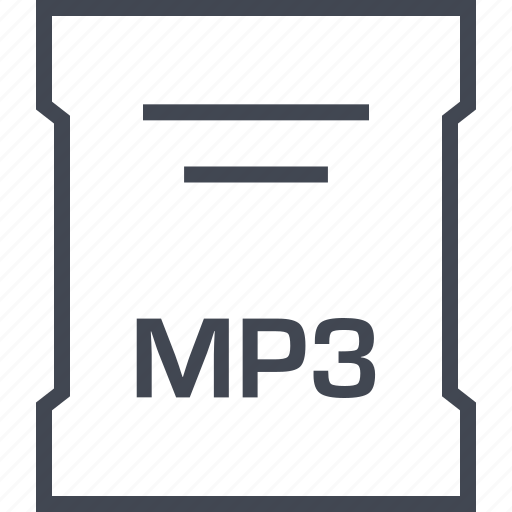 mp3, page, sleek icon