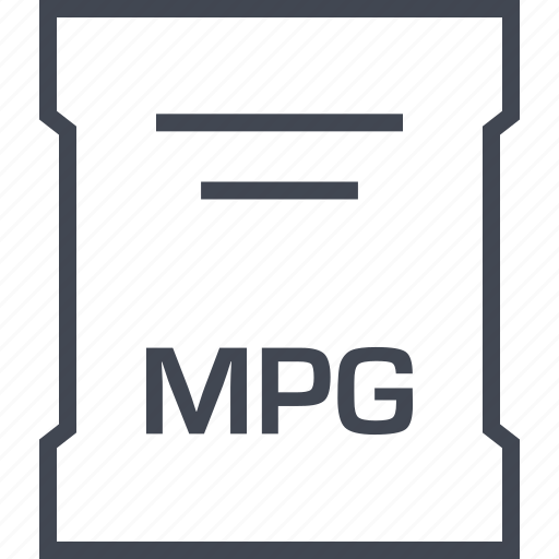 mpg, page, sleek icon