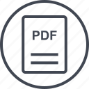 extension, file, page, pdf icon