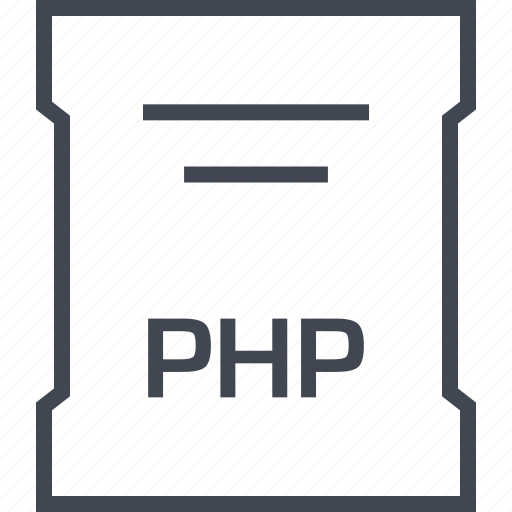 page, php, sleek icon